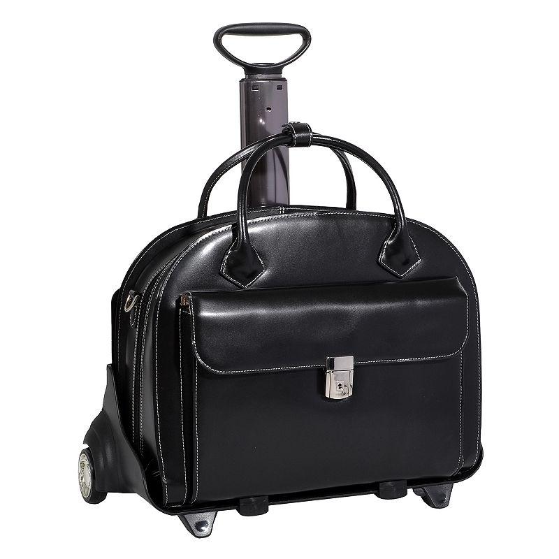 McKlein Glen Ellyn Detachable-Wheeled Briefcase