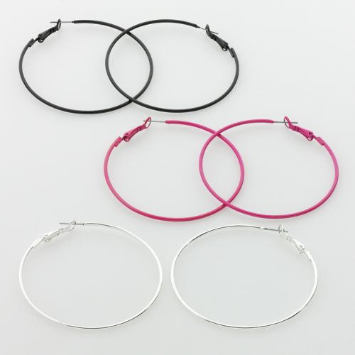 SO Hoop Earring Set