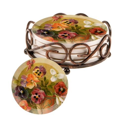 Thirstystone Pansies Coaster Set