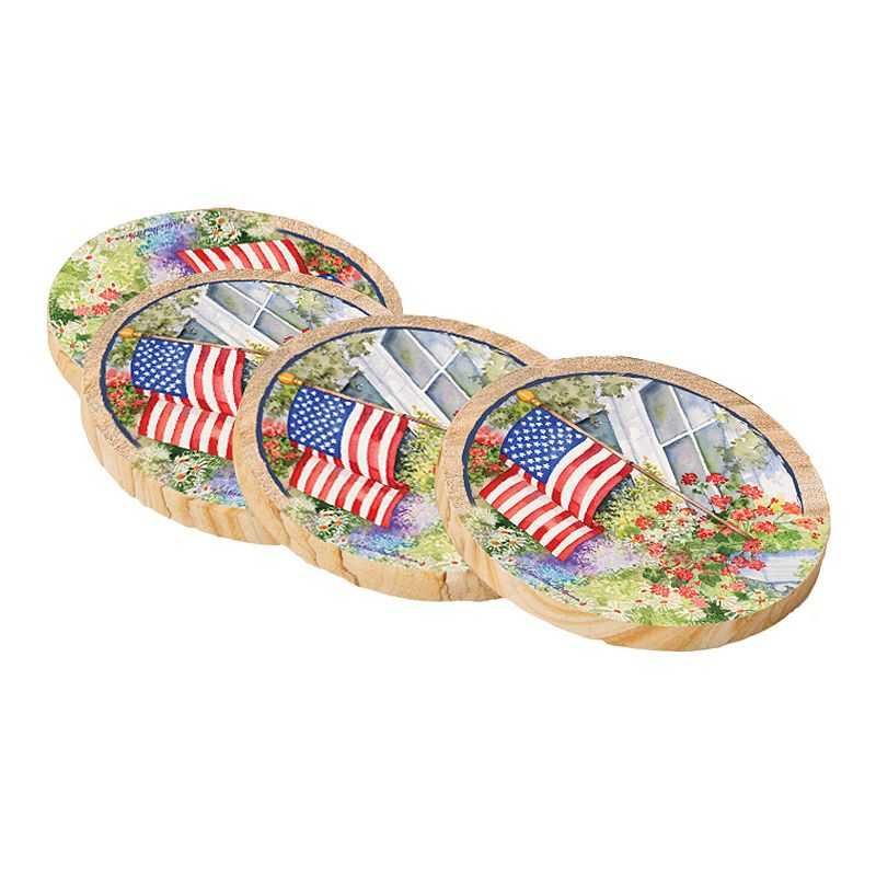 Thirstystone American Flag Coaster Set
