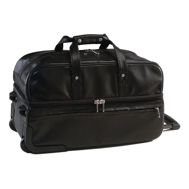 Royce Leather Rolling Duffel Bag