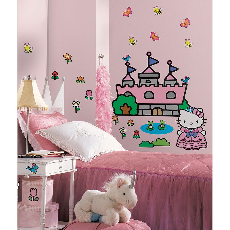 Hello Kitty Castle Wall Decals, Multicolor