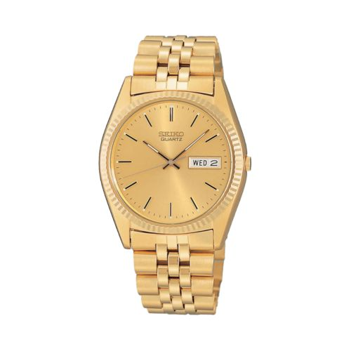 Seiko Stainless Steel Gold Tone Watch - Men