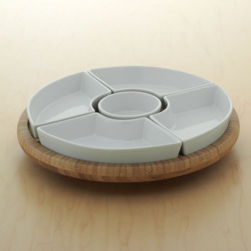 Food Network™ 6-pc. Lazy Susan Chip and Dip Set