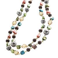 Mudd® Gold Tone Beaded Long Necklace