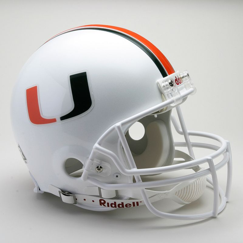 Riddell Miami Hurricanes Collectible On-Field Helmet