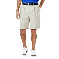 Big & Tall Haggar Cool 18 Pleated Microfiber Shorts