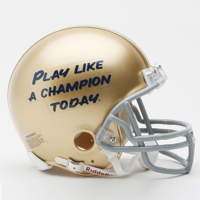 Riddell Notre Dame Fighting Irish Play Like A Champion Today Mini Helmet