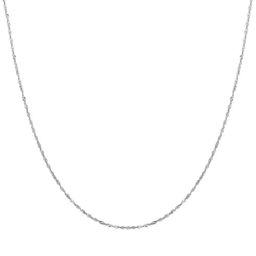 Everlasting Gold 14k White Gold Singapore Chain Necklace - 18-in.