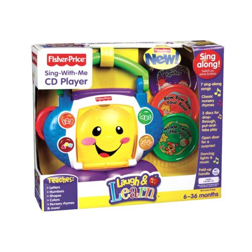 Fisher-Price Laugh and Learn Sing-With-Me Toy CD Player