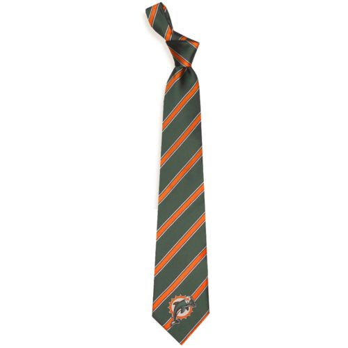 Adult Miami Dolphins Striped Tie