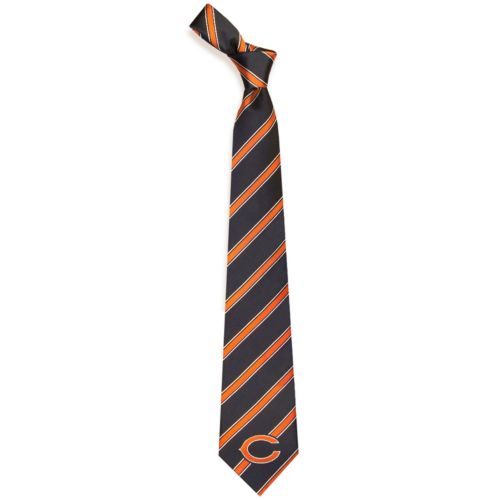 Adult Chicago Bears Striped Tie