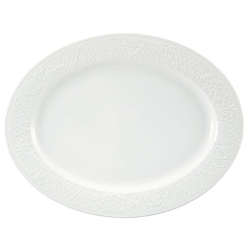 Nikko Blanc Fleur Oval Serving Platter