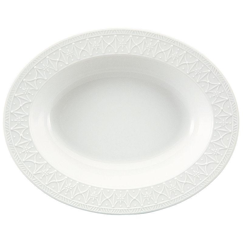 Nikko Blanc Fleur Vegetable Serving Bowl
