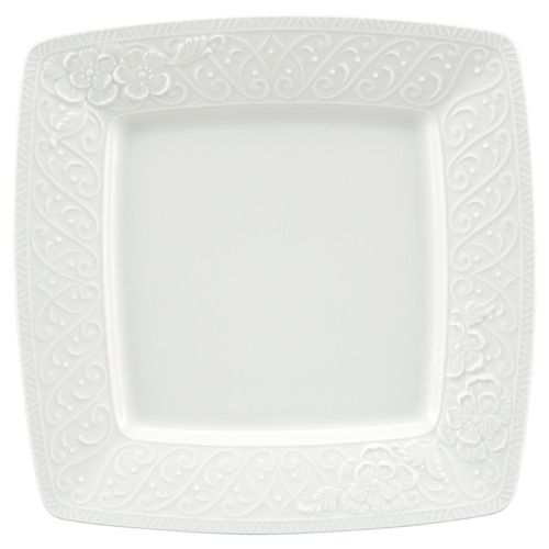 Nikko Blanc Fleur Square Accent Plate