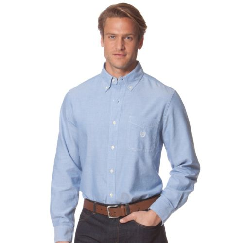 Chaps Classic-Fit Solid Oxford Casual Button-Down Shirt