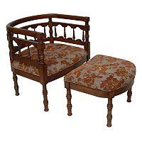 Carolina Accents Savannah Chair & Ottoman Set