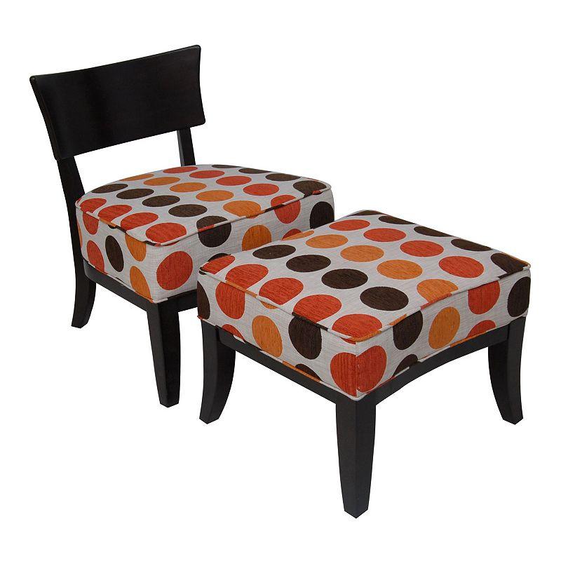 Carolina Accents Metro Chair and Ottoman Set