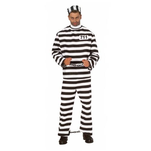 Convict Costume - Adult