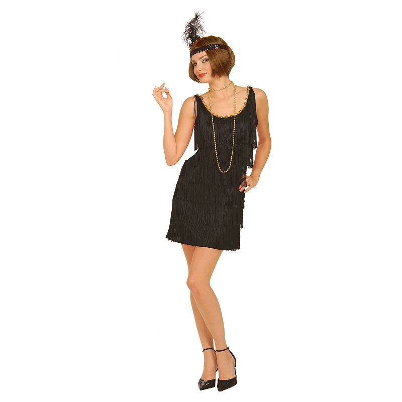 Black Flapper Costume - Adult