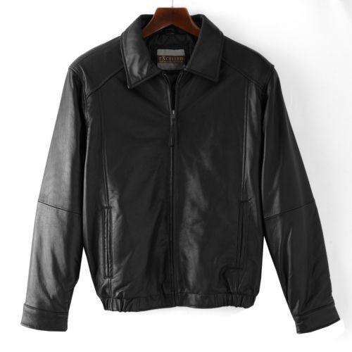 Excelled Leather Bomber Jacket - Men