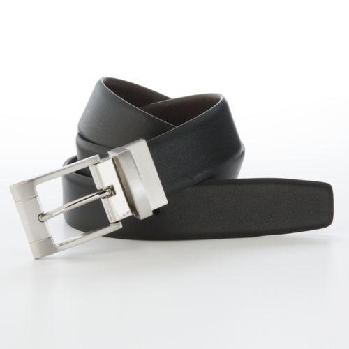 Apt. 9®Reversible Square Buckle Leather Belt