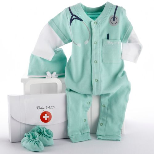 Baby Aspen Big Dreamzzz 3-pc. Doctor Coveralls Gift Set - Baby