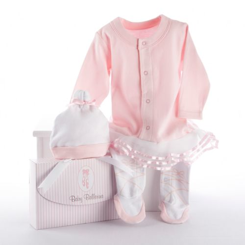 Baby Aspen Big Dreamzzz Ballerina Sleep & Play Hat Gift Set - Baby Girl