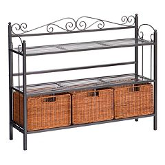 Celtic Rattan Baker's Rack by