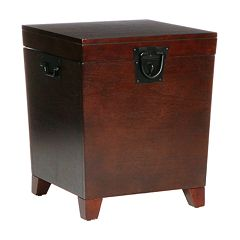 Pyramid Mission Espresso Trunk End Table by