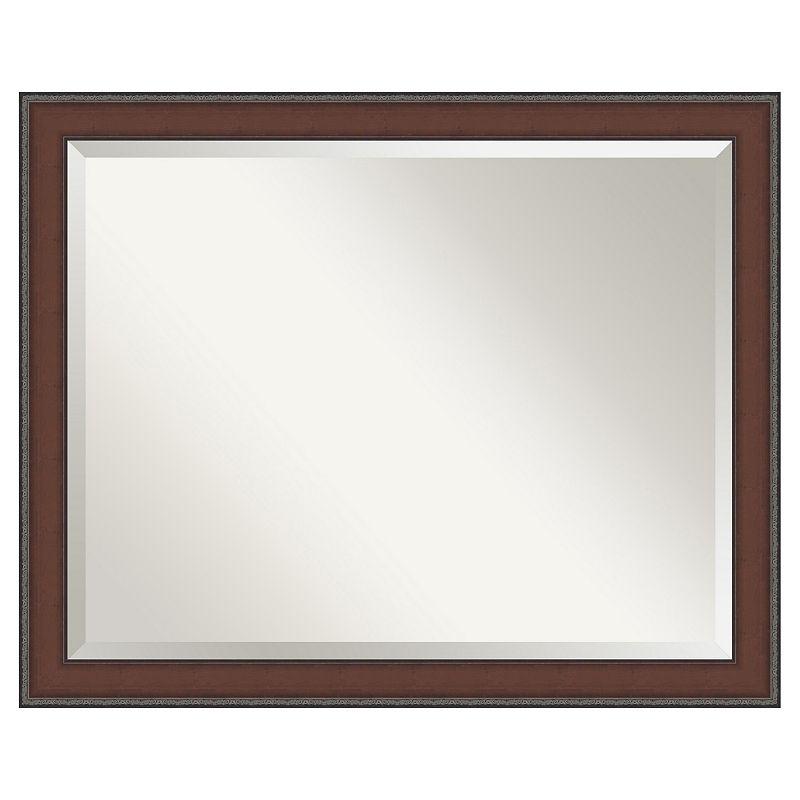 Amanti Art Country Walnut 31 2/5 x 25 2/5 Wall Mirror