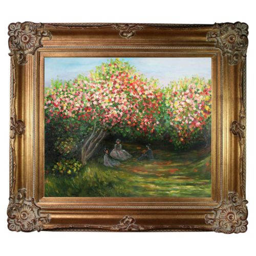 Resting Under the Lilacs Framed Wall Art