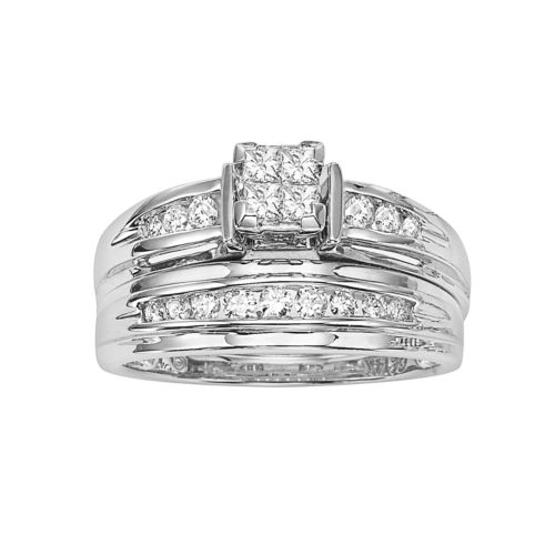 Cherish Always Princess-Cut Certified Diamond Engagement Ring in 14k White Gold (1/2 ct. T.W.)