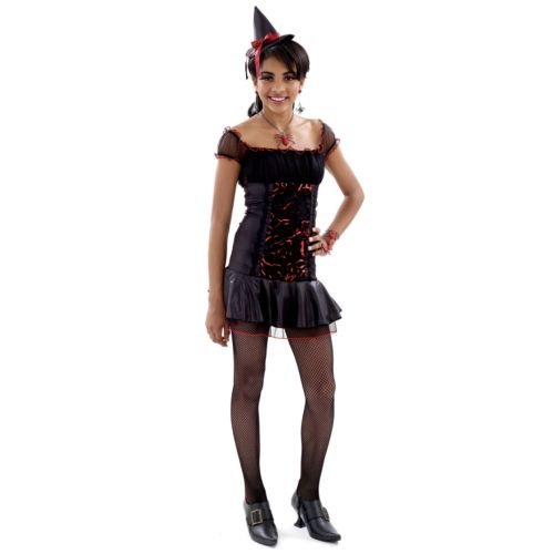 Rockin' Roses Witch Costume - Juniors