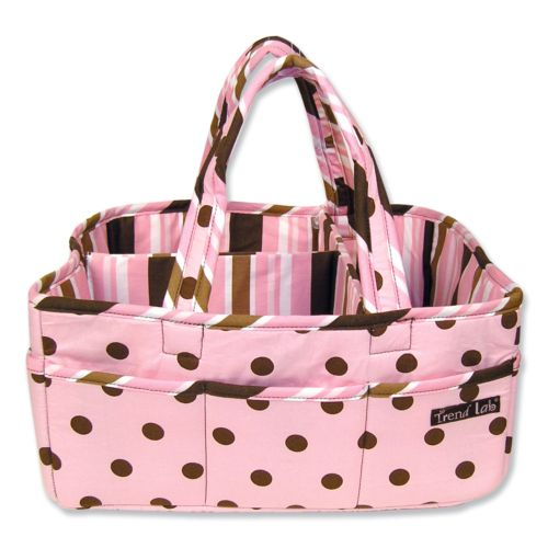 Trend Lab Polka-Dot Diaper Storage Caddy
