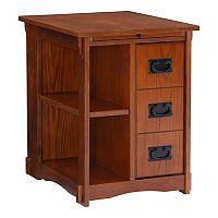 Mission Oak Magazine Cabinet Table