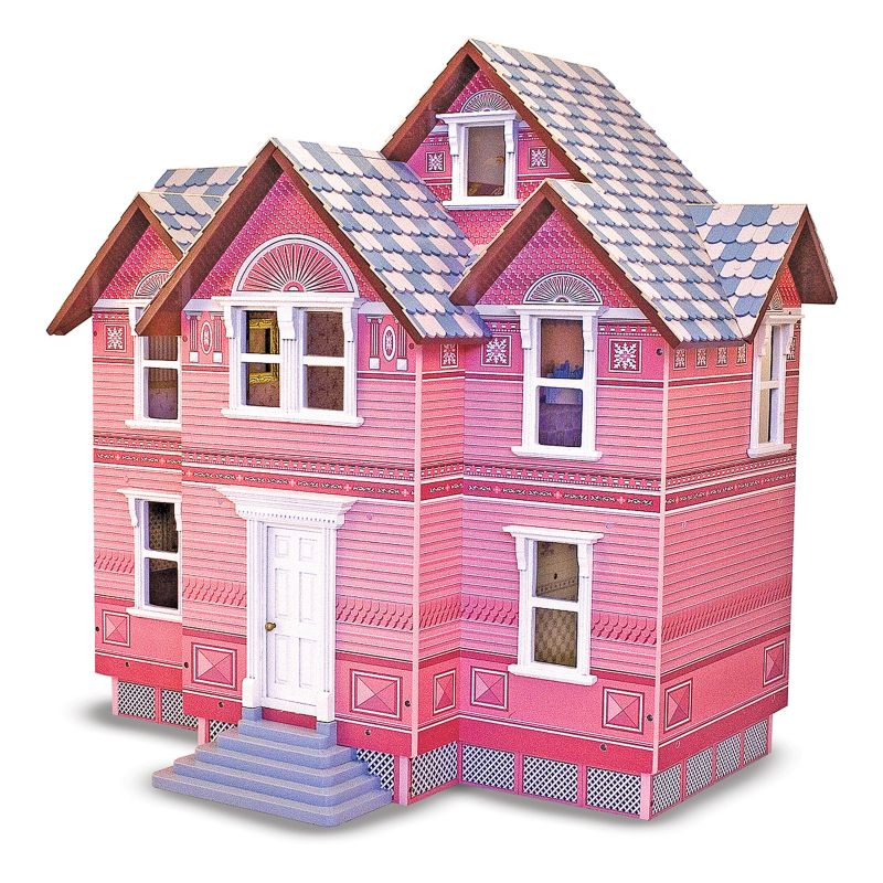 Melissa and Doug Victorian Dollhouse, Multicolor
