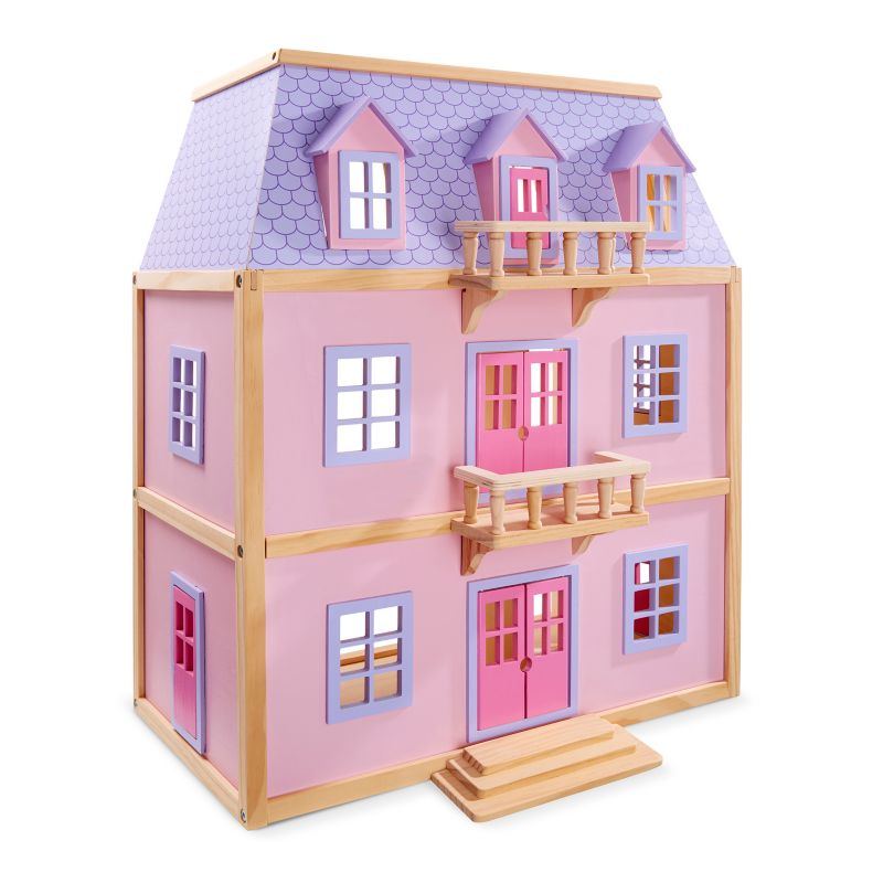 Melissa and Doug Wooden Dollhouse, Multicolor