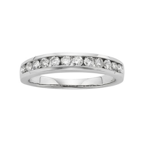 14k White Gold 1/2-ct. T.W. Diamond Wedding Ring