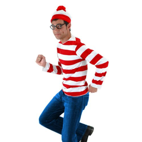 Where's Waldo Costume - Adult