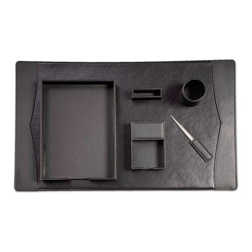 6-pc. Leather Desk Set