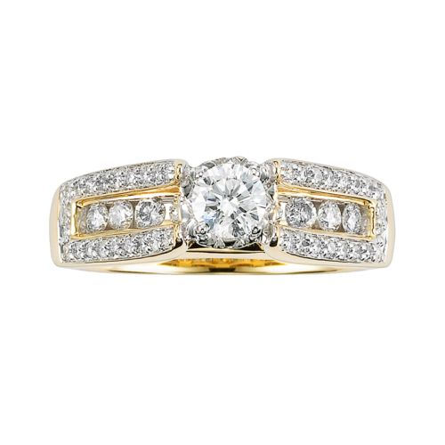 Cherish Always Round-Cut Diamond Engagement Ring in 10k Gold (1 ct. T.W.)