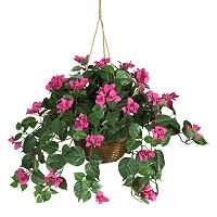 nearly natural Hanging Silk Bougainvillea