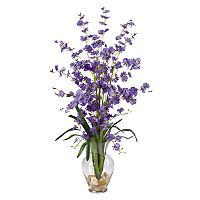 nearly natural Liquid Illusion Silk Dancing Lady Orchid Floral Arrangement