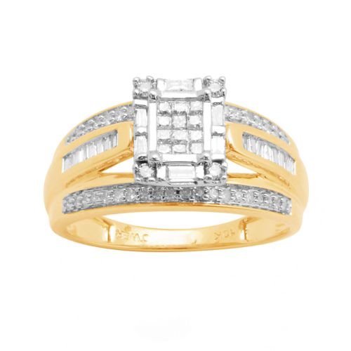 Diamond Engagement Ring in 10k Gold (1/2 ct. T.W.)