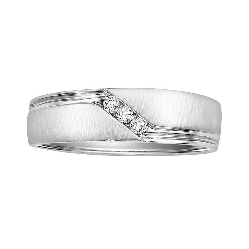 Love Always Sterling Silver Diamond Accent Wedding Band - Men