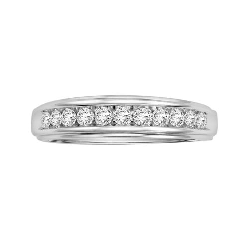 Love Always Sterling Silver 1/2-ct. T.W. Round-Cut Diamond Wedding Band