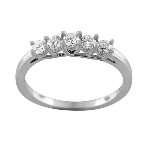 10k White Gold 1/4-ct. T.W. Round Cut Diamond Ring