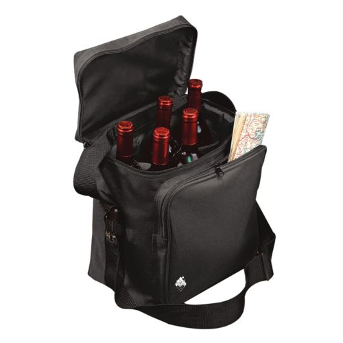 Wine Enthusiast 6-Bottle Insulated Weekend Wine Bag
