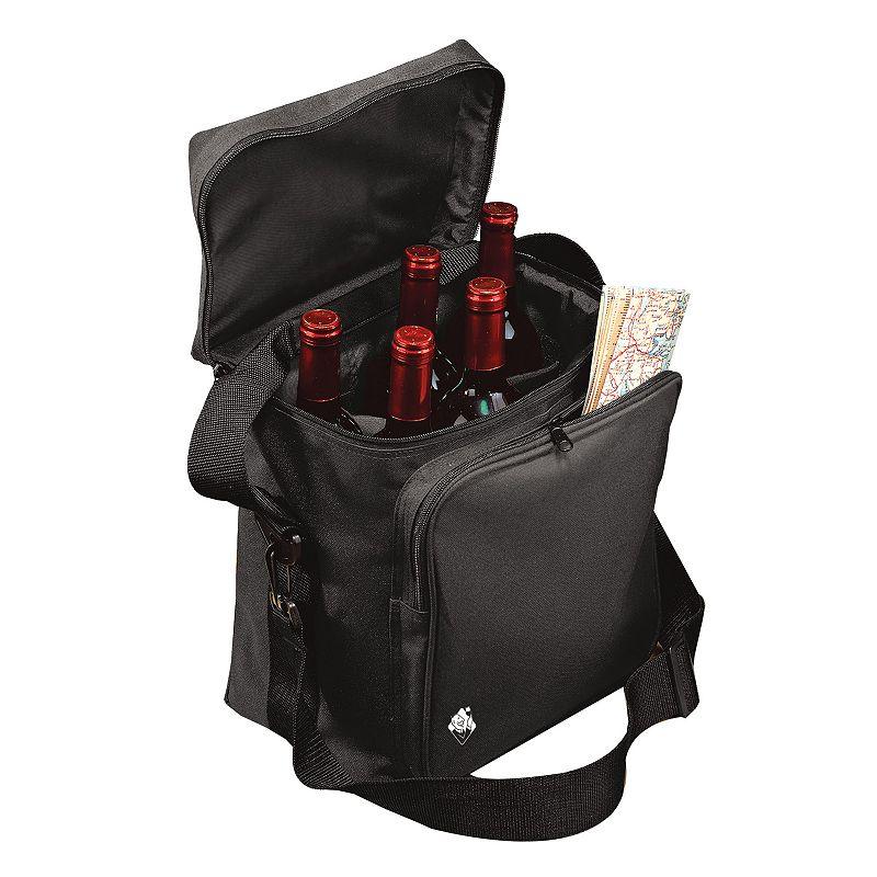 Wine Enthusiast 6-Bottle Insulated Weekend Wine Bag